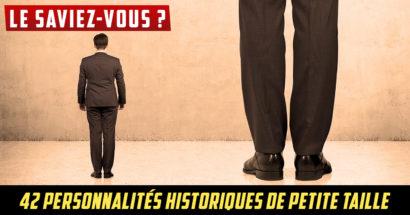 Le saviez-vous : 42 personnalités historiques de petite taille
