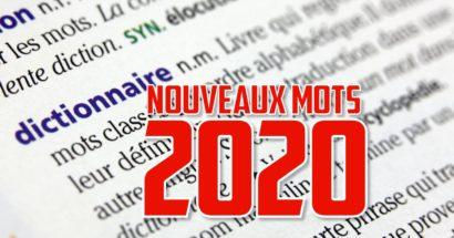 De nouveaux mots au dictionnaire 2020